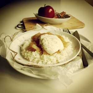 Ryż z jabłkami i śmietaną - IKONA